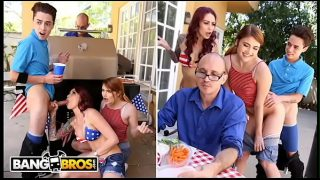 BANGBROS – 4th Of July Threesome With Monique Alexander, Adria Rae & Juan El Caballo Loco