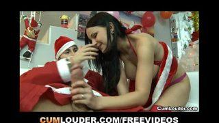 Slut  Abbie Cat penetrated hard and deep by Santa Claus's Cock